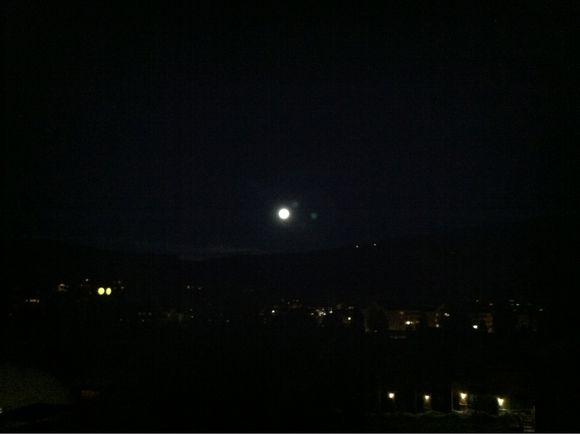 Full moon over breckenridge