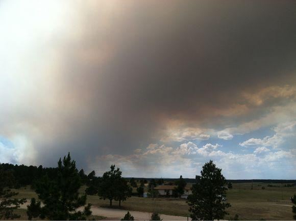 Smoke from Waldo Canyon fire